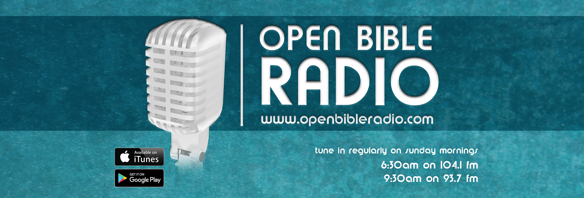 Open bible radio banner